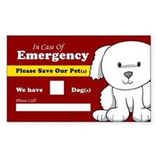 Emergency We Have Dogs Rectangle Bumper Stickers