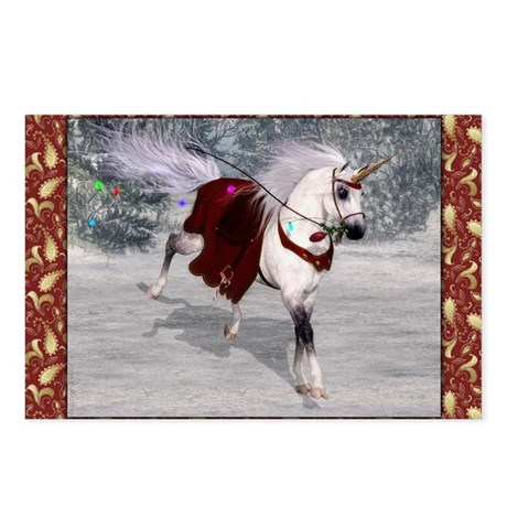 Holiday Unicorn IV Postcards (Package of 8)