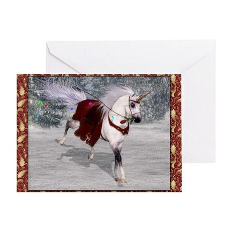 Holiday Unicorn IV Greeting Card