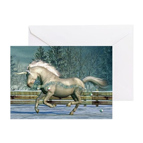 Holiday Unicorn III Greeting Cards (Pk of 10)