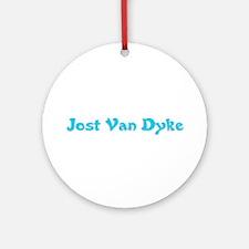 Jost Van Dyke Ornament (Round)