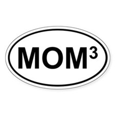 Mom Cubed (Bumper Oval)