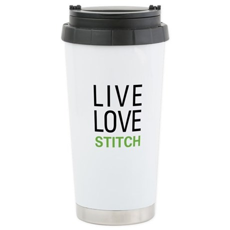 Live Love Stitch Stainless Steel Travel Mug