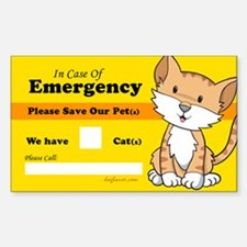 Rescue My Cats Rectangle Bumper Stickers