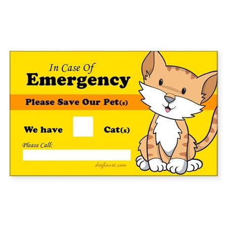 Rescue My Cats Rectangle Sticker