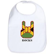 Jamaica Rocks Bib