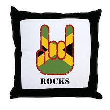 Jamaica Rocks Throw Pillow
