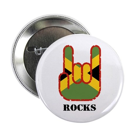 "Jamaica Rocks 2.25"" Button"