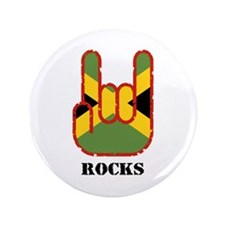 "Jamaica Rocks 3.5"" Button"
