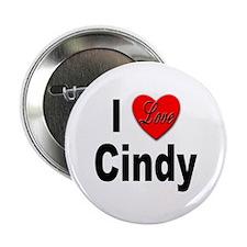 I Love Cindy Button