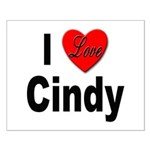 I Love Cindy Small Poster