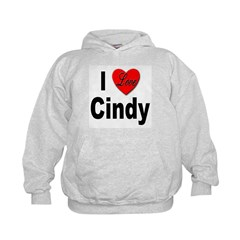 I Love Cindy (Front) Hoodie