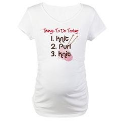 Knitter's To Do List Maternity T-Shirt