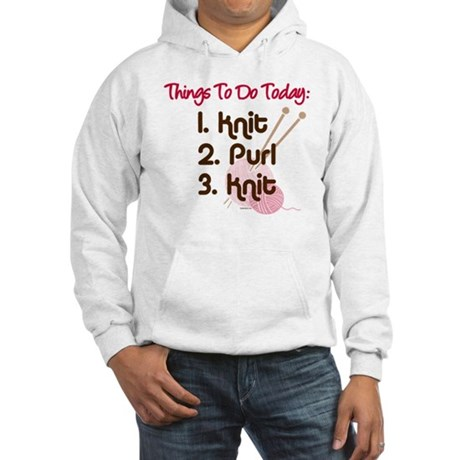 Knitter's To Do List Hooded Sweatshirt