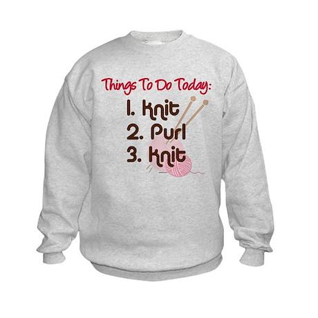 Knitter's To Do List Kids Sweatshirt