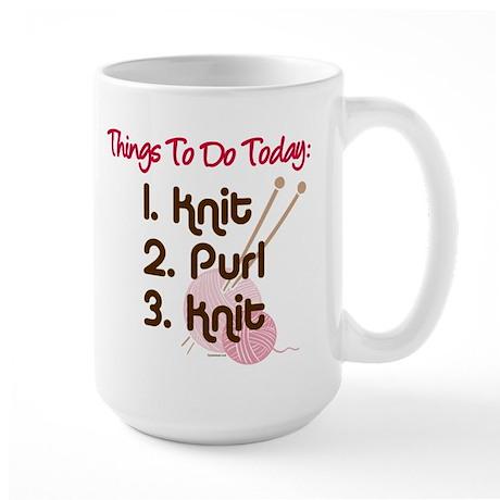 Knitter's To Do List Large Mug
