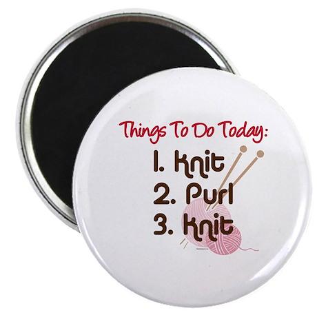 """Knitter's To Do List 2.25"""" Magnet (10 pack)"""