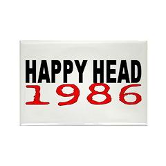 HAPPY HEAD 1986 Rectangle Magnet