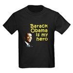 Barack Obama is my hero Kids Dark T-Shirt
