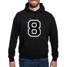 Varsity Font Number 8 Black Hoodie