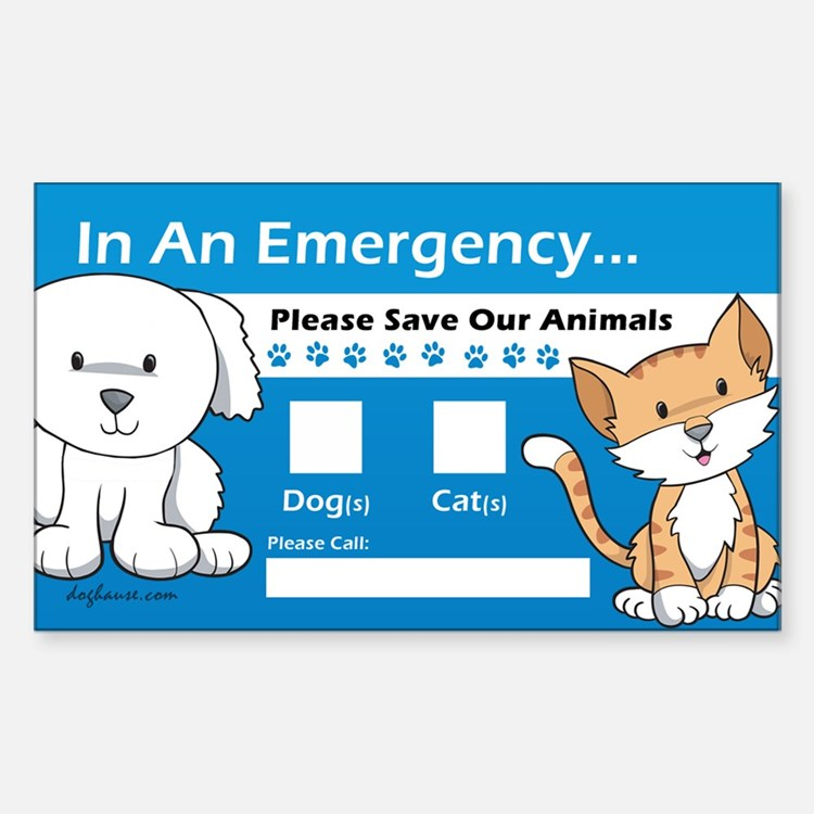 In An Emergency Rectangle Bumper Stickers