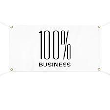 100 Percent Business Banner