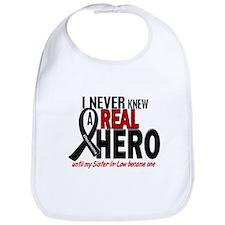 Never Knew A Hero 2 MELANOMA (Sister-In-Law) Bib