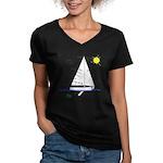 The Well Rigged Women's V-Neck Dark T-Shirt