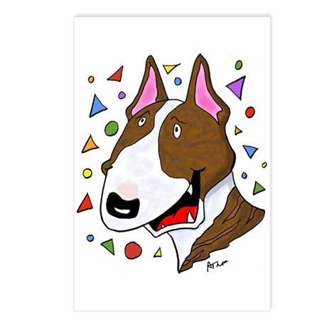 Brindle Bull Terrier Postcards (Package of 8)