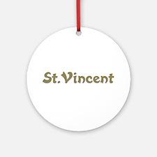St. Vincent Ornament (Round)