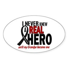 Never Knew A Hero 2 MELANOMA (Grandpa) Decal