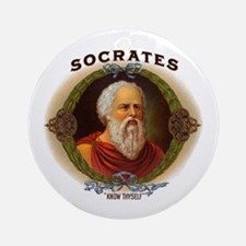 Socrates Philosopher Ornament (Round)