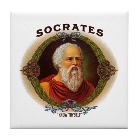 Socrates Philosopher Tile Coaster
