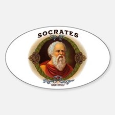 Socrates Philosopher Oval Decal