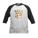 Giraffe! Kids Baseball Jersey