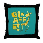 Giraffe! Throw Pillow