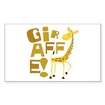 Giraffe! Rectangle Sticker 50 pk)