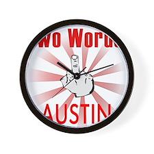 Cute Austin Wall Clock