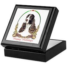 Springer Spaniel Holiday Keepsake Box