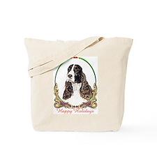 Springer Spaniel Holiday Tote Bag
