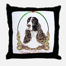 Springer Spaniel Holiday Throw Pillow