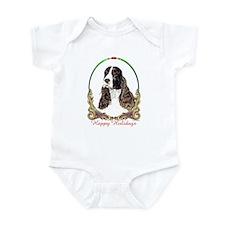 Springer Spaniel Holiday Infant Creeper