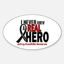 Never Knew A Hero 2 MELANOMA (Grandfather) Decal
