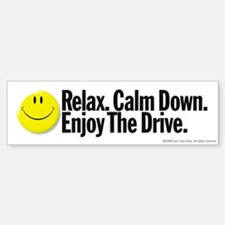 Enjoy The Drive Bumper Car Car Sticker