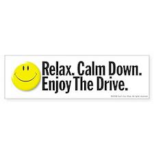 Enjoy The Drive Bumper Car Sticker