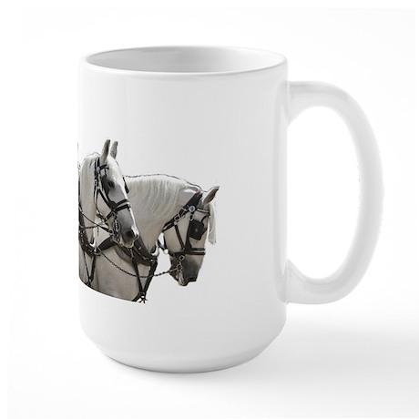 4 Abreast Percheron Mug Large Mug