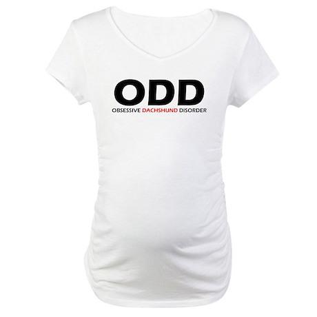 Obsessive Dachshund Maternity T-Shirt