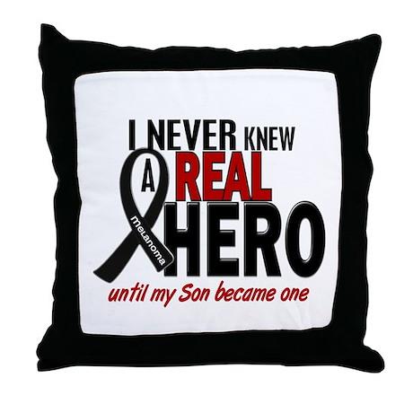 Never Knew A Hero 2 MELANOMA (Son) Throw Pillow