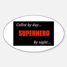 Cello Gift Oval Decal