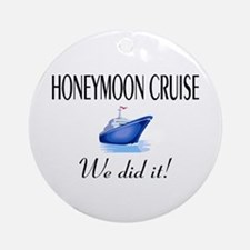 Honeymoon Cruise Ornament (Round)